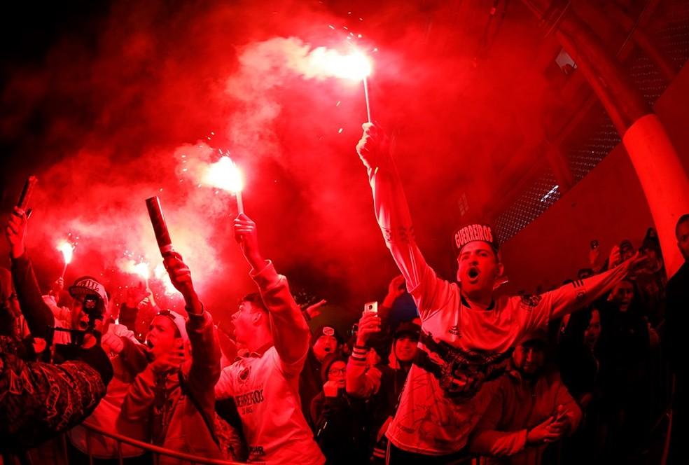 Torcida do Bragantino no estádio Nabi Abi Chedid — Foto: Ari Ferreira/CA Bragantino