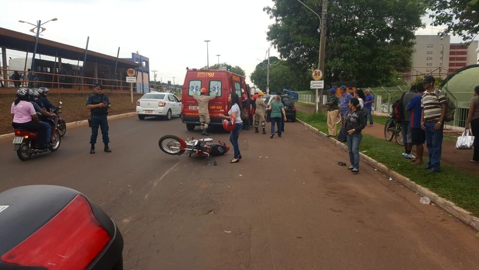Acidente ocorrido durante fuga do suspeito de tráfico de drogas — Foto: PM/Divulgação