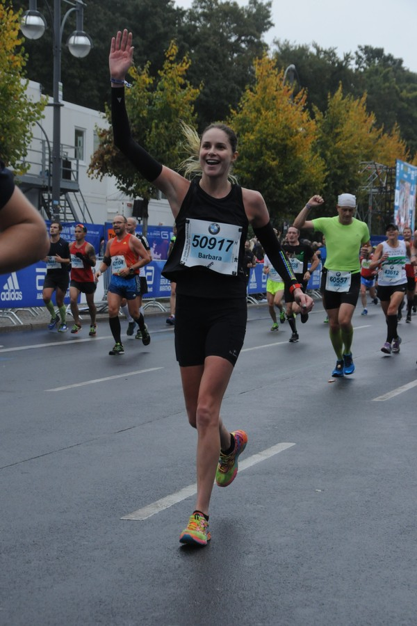 Babi Beluco na Maratona de Berlim (Foto: Divulgação)