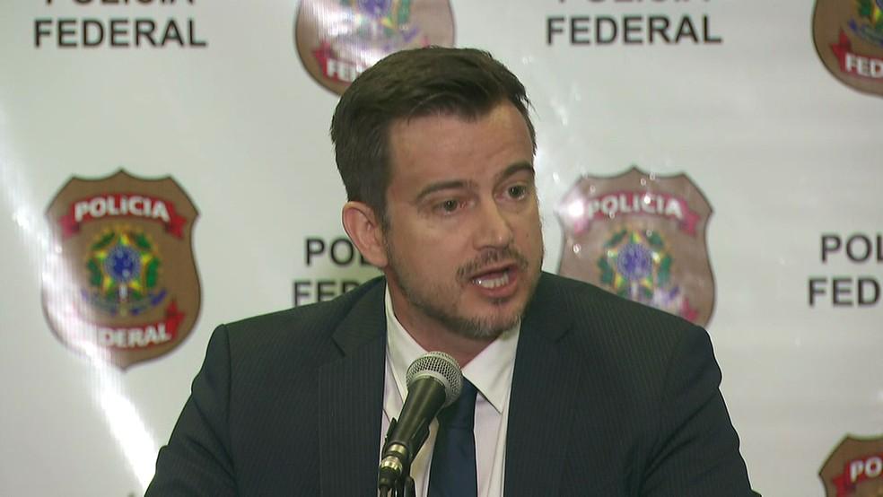 Delegado da PF Luiz Roberto Ungaretti de Godoy, responsável pela operação — Foto: TV Globo/reprodução
