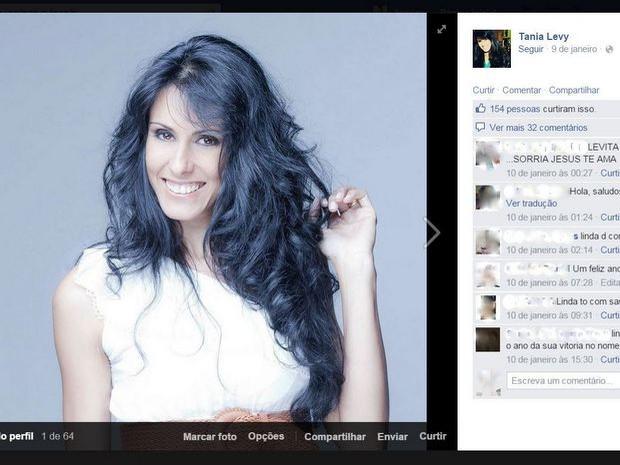 Cantora gospel Tania Levy foi presa suspeita de matar o marido em São Pedro (Foto: Reprodução/Facebook)