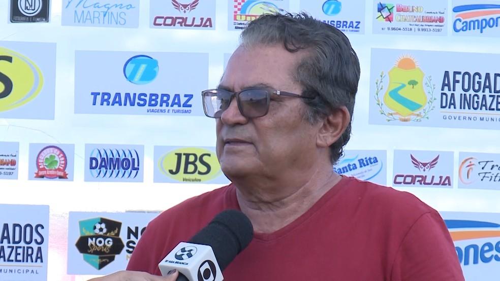 Presidente João Nogueira quer investir dinheiro em CT — Foto: TV Asa Branca / Divulgação