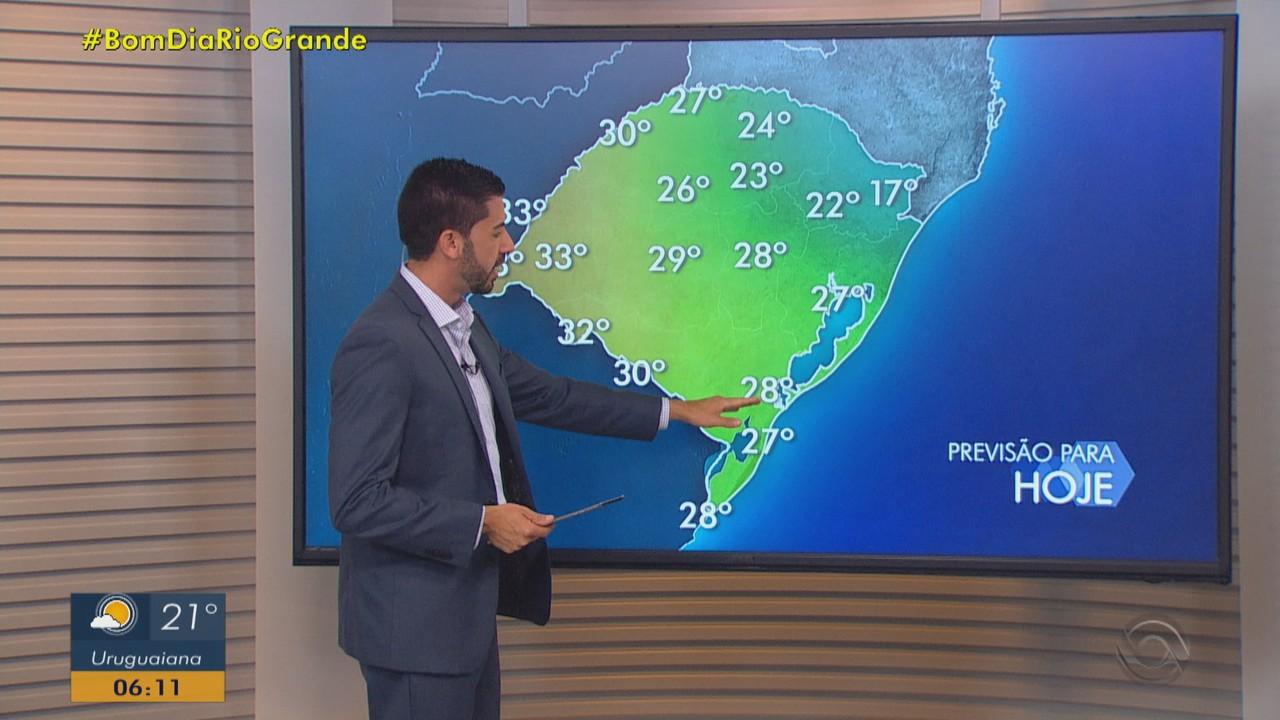 Quinta-feira (21) deve ter chuva e temperaturas amenas no RS