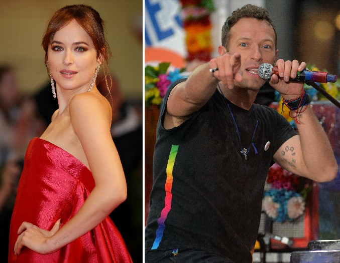 A atriz Dakota Johnson e o músico Chris Martin (Foto: Getty Images)