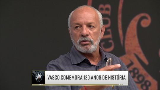 Júnior analisa momento do Vasco, que completa 120 anos nesta terça-feira