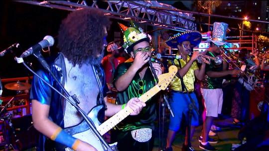Blocos que homenageiam ídolos da música fazem sucesso entre foliões