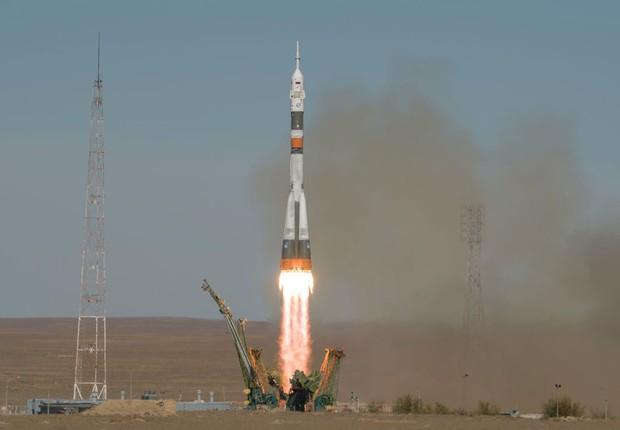 Lançamento do Soyuz no dia 11 de outubro de 2018 - foguete - espaço  (Foto: Bill Ingalls/NASA via Getty Images)