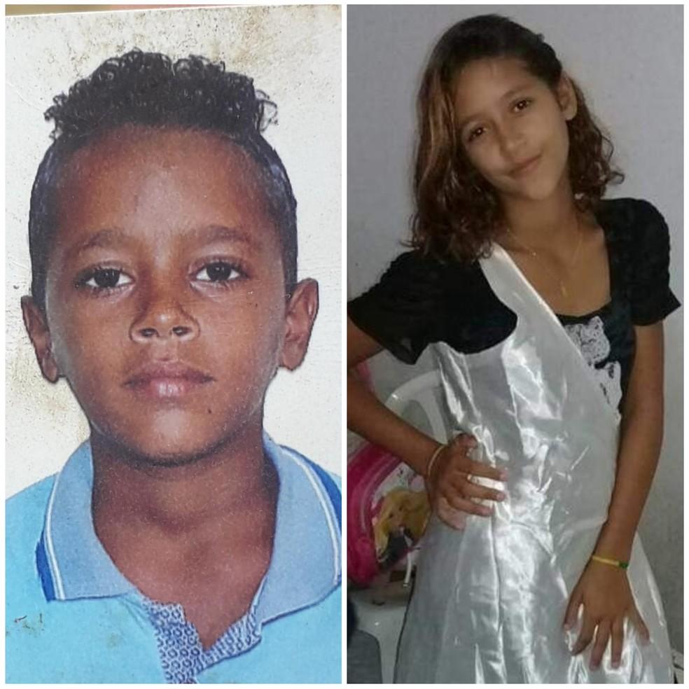 Menino de 11 anos e adolescente de 13 eram irmãos e foram mortos pelo padrasto — Foto: Reprodução/Arquivo pessoal