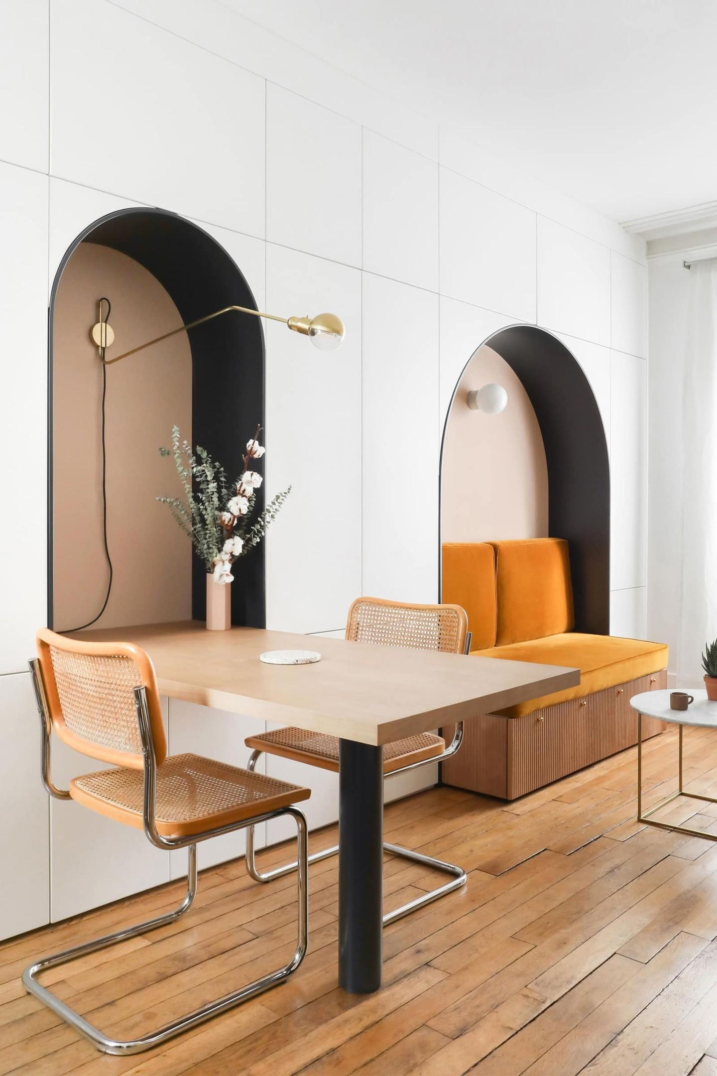 Décor do dia: nichos otimizam sala de jantar de apartamento pequeno (Foto: Divulgação)