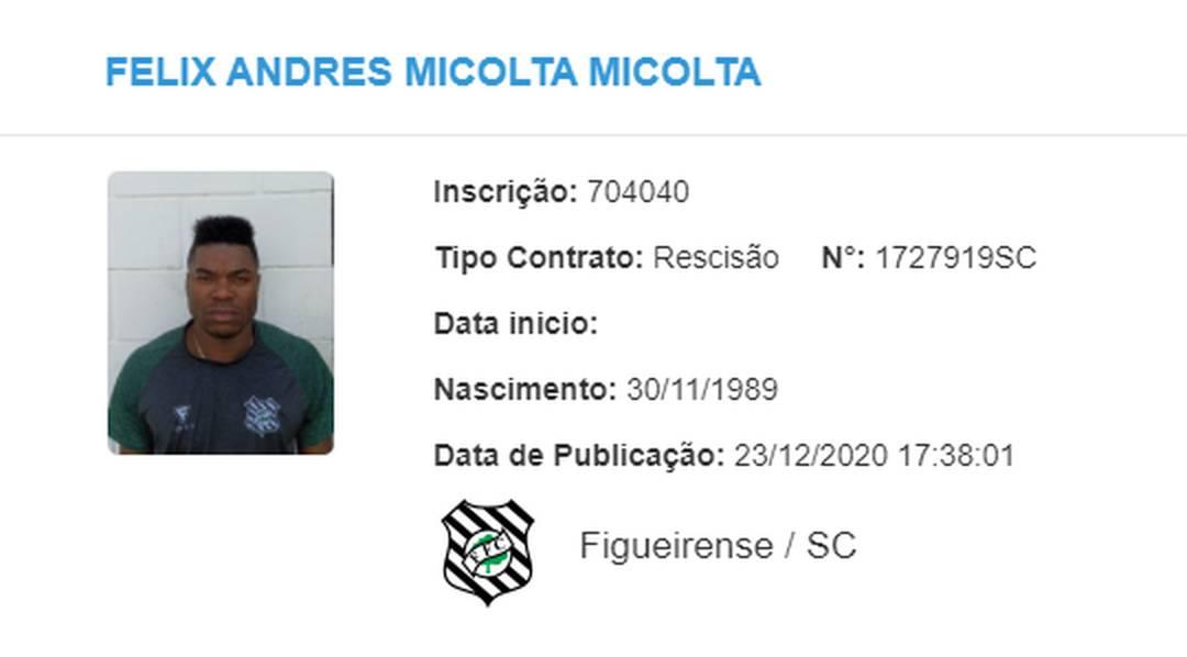 Rescisão Felix Micolta Figueirense