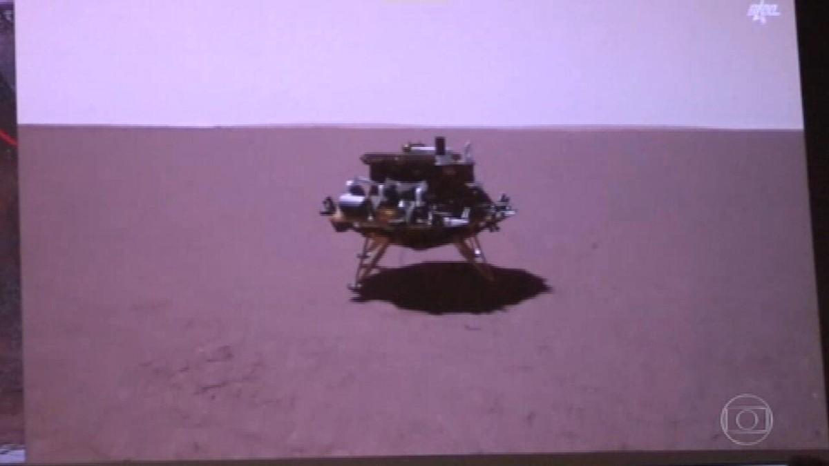 Robô chinês pousa na superfície de Marte