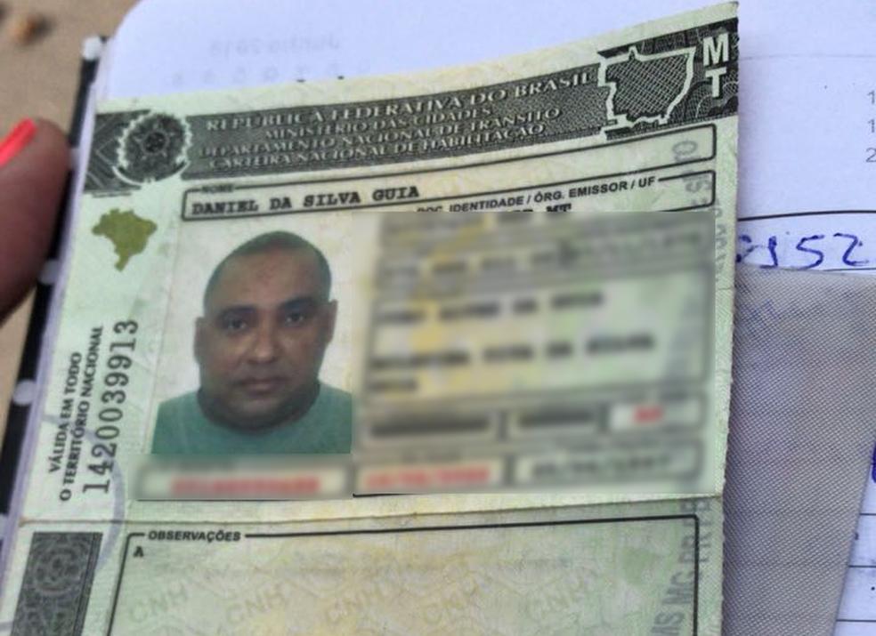 Daniel da Silva Guia, de 41 anos, foi atingido na cabeça e morreu (Foto: PM-MT/ Divulgação)