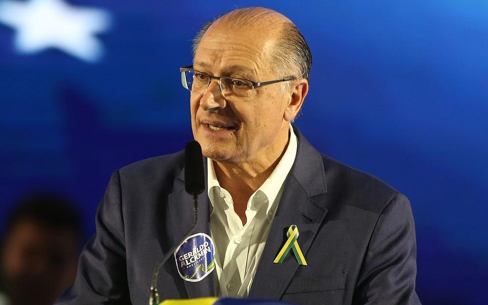 O ex-governador de SP Geraldo Alckmin durante convenção do PSDB, em Brasília — Foto: Dida Sampaio/Estadão Conteúdo