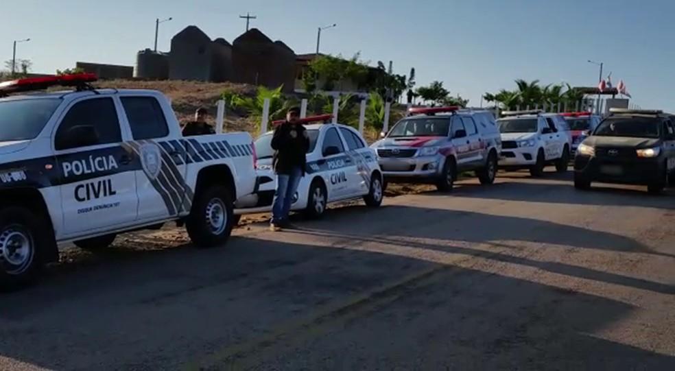 Operação aconteceu na Paraíba e em Pernambuco e mobilizou cerca de 50 policiais — Foto: 16ª Delegacia Seccional de Princesa Isabel/Polícia Civil/Divulgação