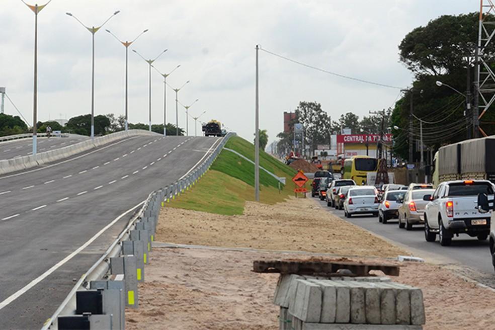 Pista principal da BR-101 será interditada nos dois sentidos neste sábado em Parnamirim — Foto: Arquivo/Ana Silva/Tribuna do Norte