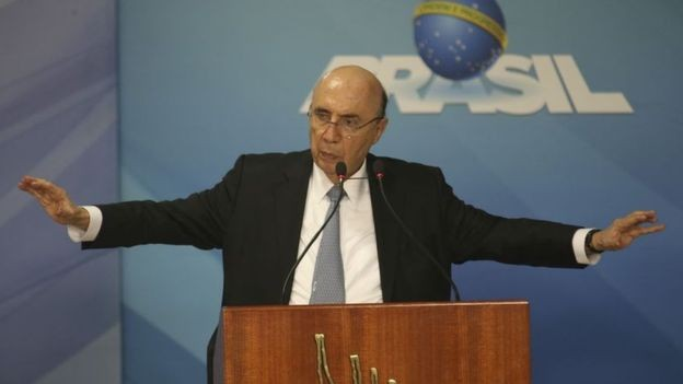 Meirelles sagrou-se candidato com o voto de 85% dos convencionais do MDB (Foto: FABIO RODRIGUES POZZEBOM/AGÊNCIA BRASIL via BBC)