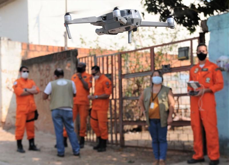 Com aumento dos casos de dengue em Planaltina, governo do DF usa drones para identificar focos do Aedes aegypti