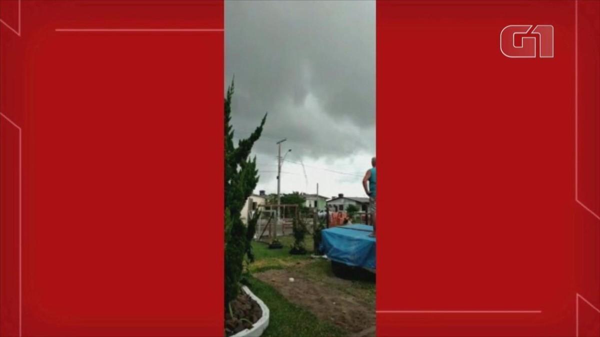 Passagem de tromba d'água é registrada em Xangri-lá; veja vídeo