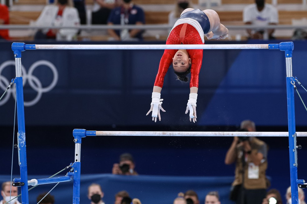 Sunisa Lee nas Olimpíadas — Foto: RICARDO BUFOLIN / PANAMERICA PRESS / CBG