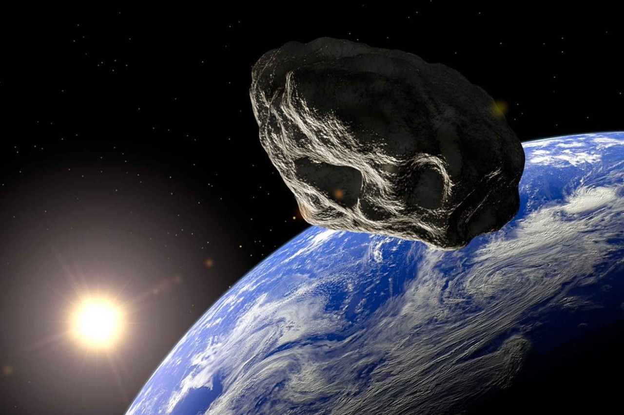 Concepção artística do asteroide 2003 SD220.  (Foto: NASA / JPL-Caltech)