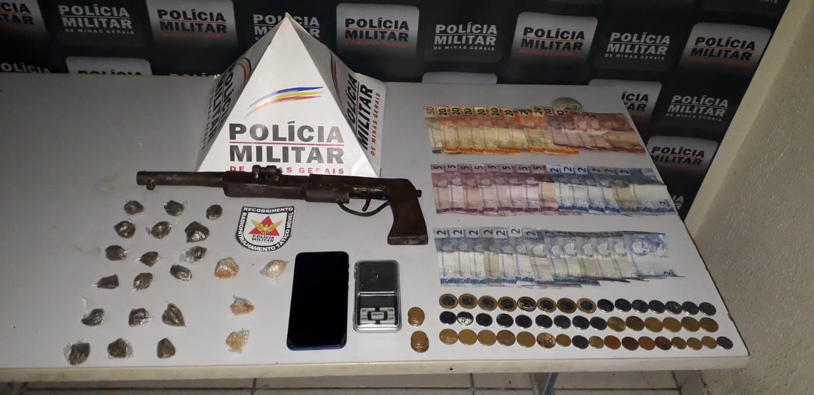 Dois adolescentes são detidos com arma e drogas no Centro de Governador Valadares