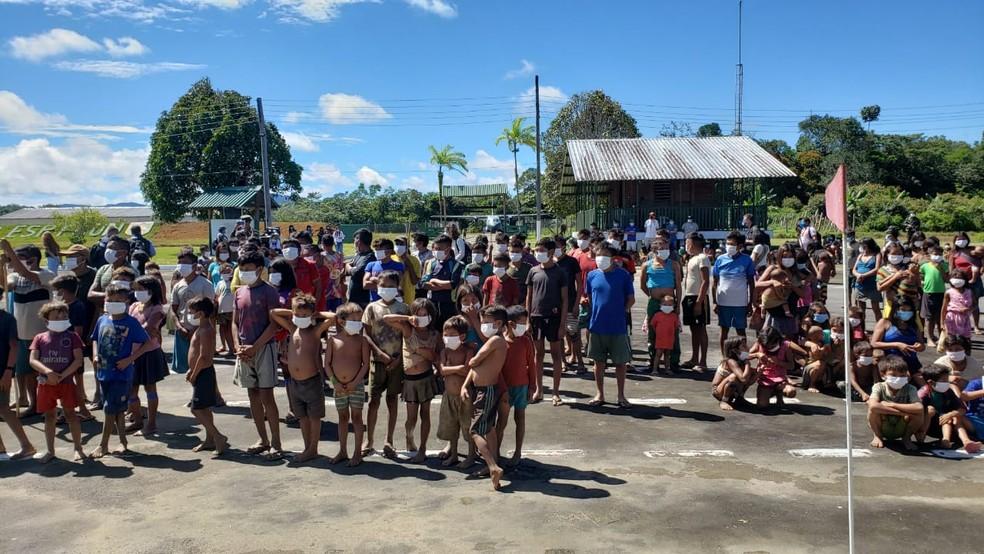 Região de Auaris, na Terra Yanomami — Foto: Ministério da Defesa/Divulgação