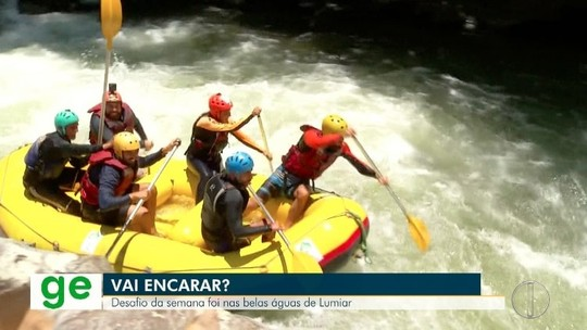 """""""Vai Encarar?"""" enfrenta a força dos rios de Lumiar em um desafio de rafting no distrito de Friburgo"""