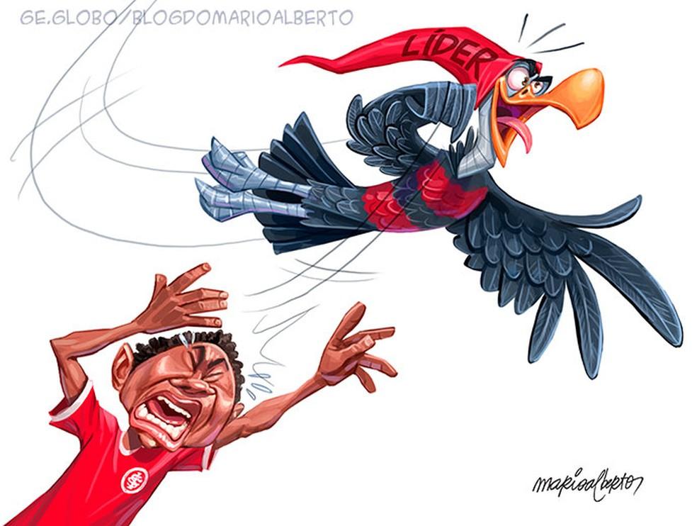 21/2/2021 - 37ª RODADA - Flamengo 2x1 Internacional — Foto: Mario Alberto