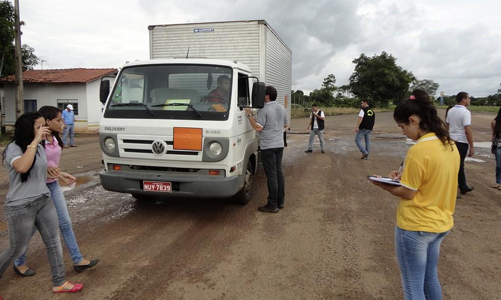 Barreiras sanitárias servem para inspecionar cargas que circulam no estado (Foto: Divulgação/Governo do Tocantins)