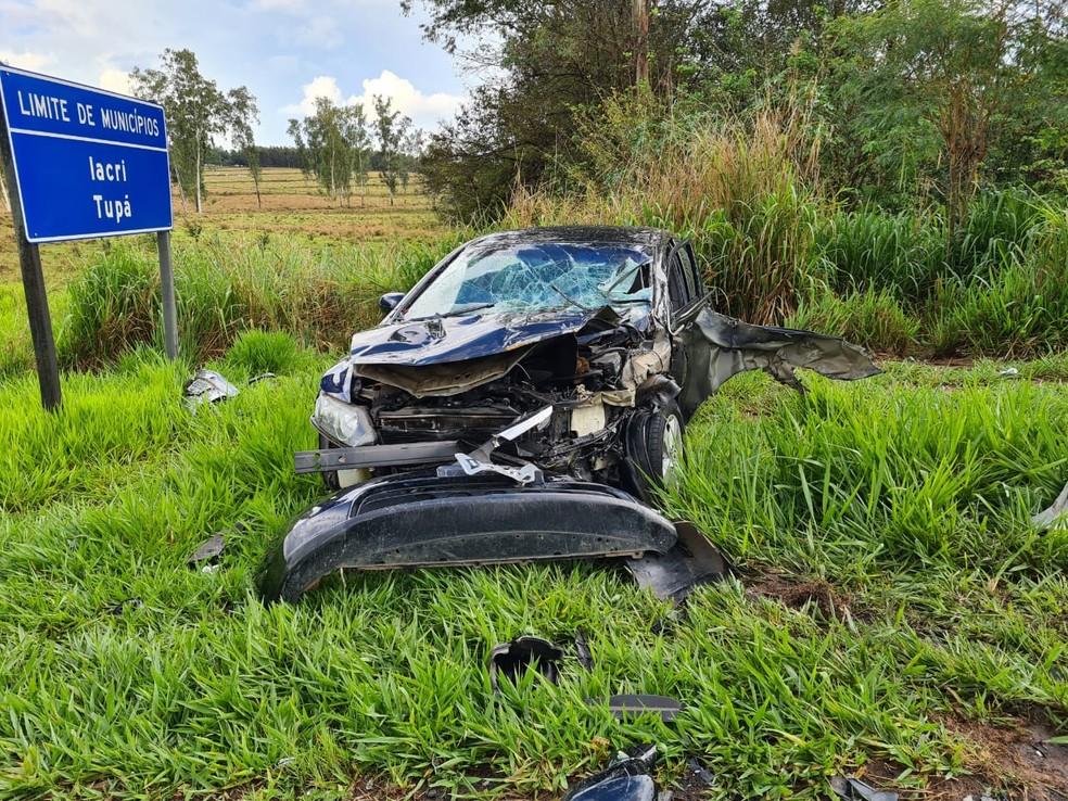 Vítimas do acidente em Tupã tiveram ferimentos leves — Foto: João Trentini/Divulgação