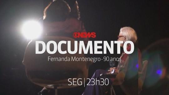 Veja os bastidores da gravação do GloboNews Documento com Fernanda Montenegro