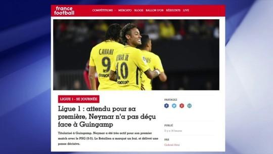 """France Football mapeia movimentação de Neymar e elogia: """"Onipresente"""""""