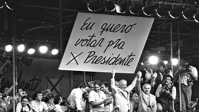 Diretas Já foi um movimento civil de reivindicação por eleições presidenciais diretas no Brasil ocorrido em 1983-1984 (Foto: Reprodução / Wikipedia)