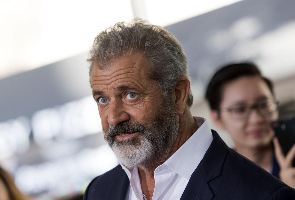 Mel Gibson na estreia do filme 'Pai em Dose Dupla 2', em Westwood, na Califórnia. Foto de novembro de 2017 — Foto: Valerie Macon/AFP/Arquivo