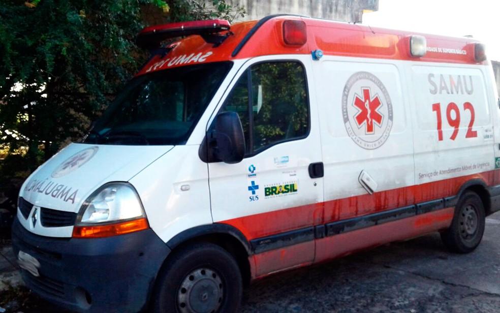 Equipe do Samu é assaltada durante atendimento (Foto: Aldo Matos/Site Acorda Cidade)
