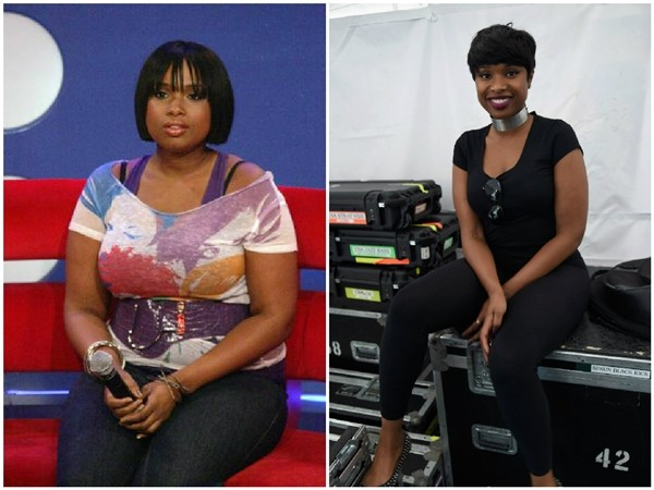 Jennifer Hudson em 2010 e 2015 (Foto: Getty Images)