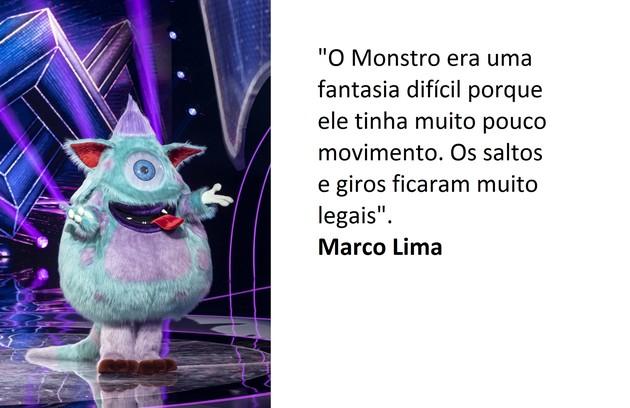 Fábio diz que é difícil escolher a fantasia preferida: 'Eu amo todas, indistintamente'. Já Marco destaca o Monstro (Foto: Globo)