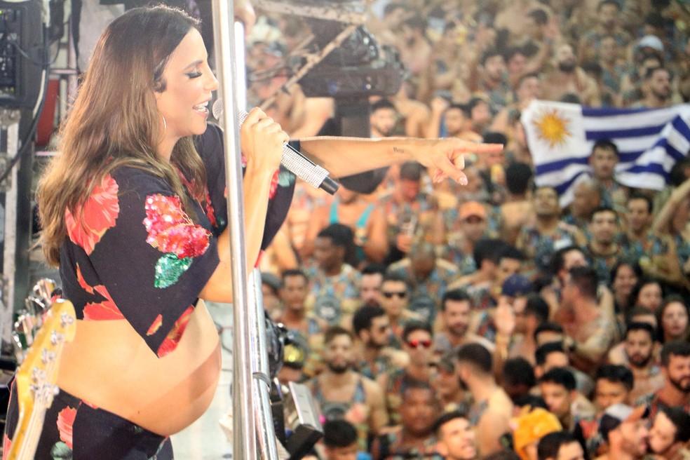 Ivete Sangalo encantou público neste sábado no Carnatal  (Foto: Elias Medeiros )