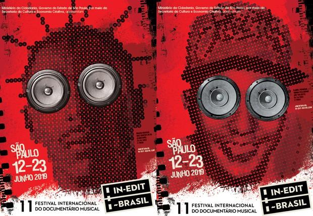 Sabotage e MC Daleste em cartazes do Festival In-Edit 2019 (Foto: Divulgação)