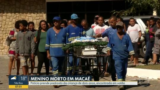 Polícia prende padrasto de menino de dois anos morto em Macaé