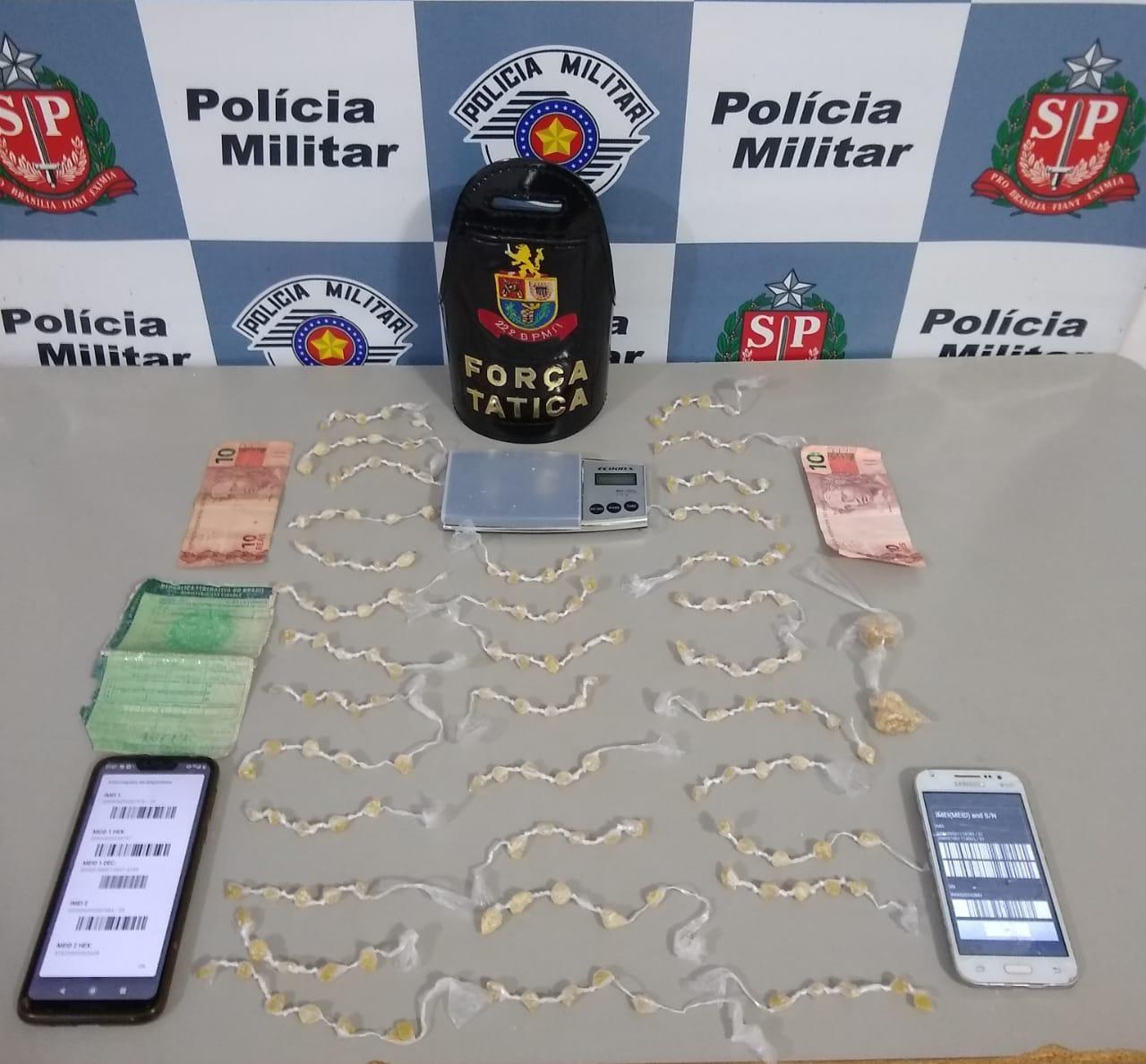 Homem e adolescente são detidos com drogas em Tatuí