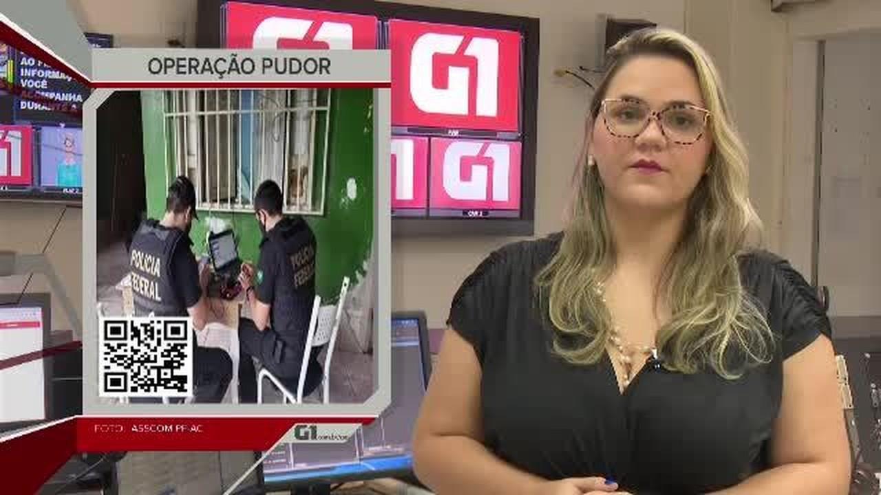 G1 em 1 minuto-AC: Homem que abusou de criança e postou vídeo é preso