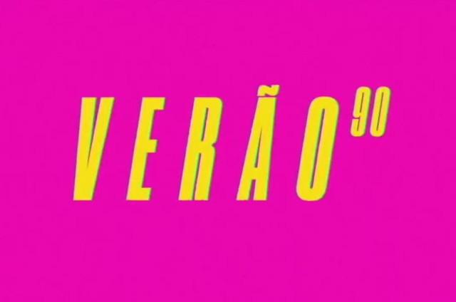 Logo de 'Verão 90' (Foto: TV Globo)