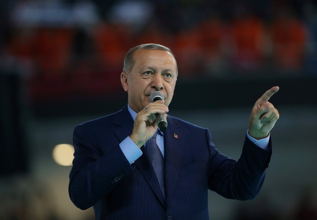 Taypp Erdogan, presidente da Turquia (Foto: Murat Kula/Palácio Presidencial/Divulgação via Reuters )