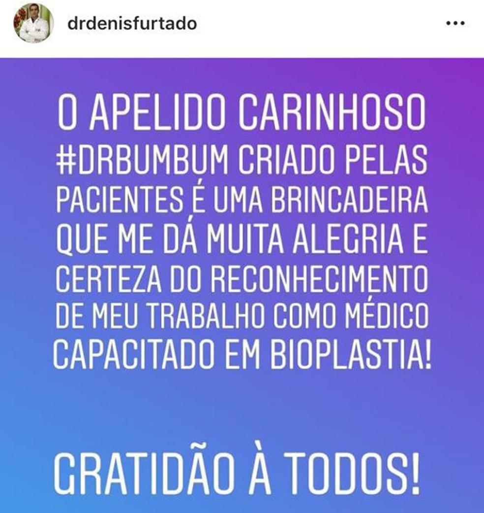 Dr. Bumbum tem 645 mil seguidores em rede social (Foto: Instagram/Reprodução)