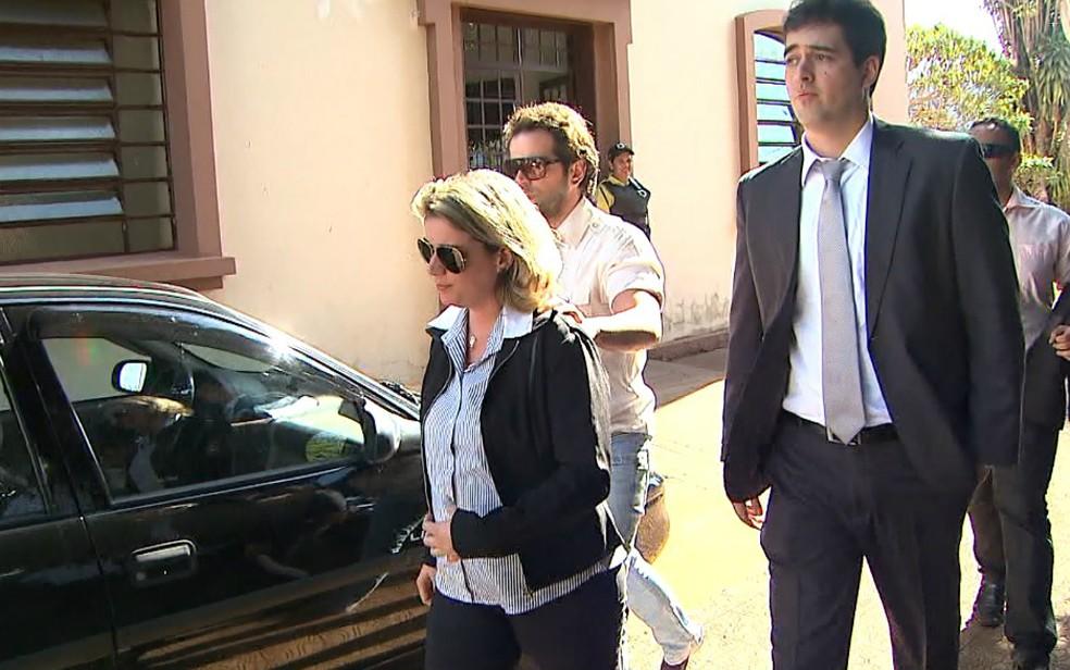 A mãe do menino Joaquim Ponte Marques, Natália Ponte — Foto: Reprodução/EPTV