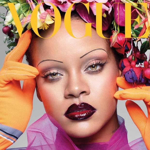 Rihanna na Vogue britânica de setembro (Foto: Divulgação/ Nick Knight para Vogue UK))