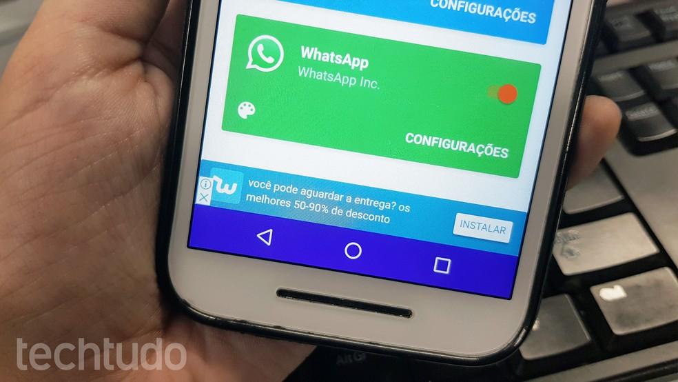 Flychat permite ficar invisível no WhatsApp (Foto: Ana Marques/TechTudo)