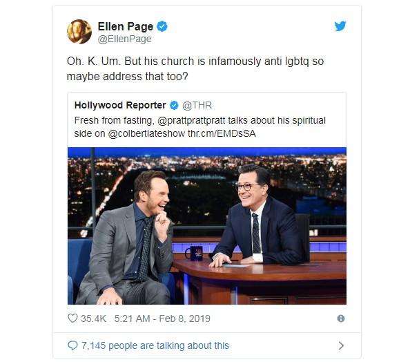 Tweet de Ellen Page (Foto: Reprodução Twitter)