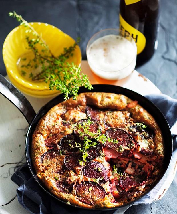 Frittata assada de batata com beterraba e queijo de cabra (Foto: StockFood / Gallo Images Pty Ltd.)